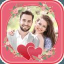 浪漫相框对于爱情情侣图片