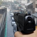 手枪实景射击