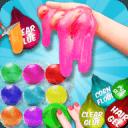 DIY气球粘液冰沙和粘土球粘液游戏