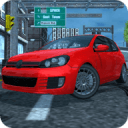 Sports Car Driving in City