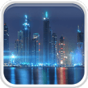 迪拜在夜间动态壁纸