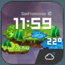 復古像素風超酷主題時鐘天氣小工具﹣輕鬆天氣,最贊的天氣小工具