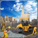 道路建设:在重型停车场建设城市3d
