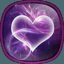紫色心 动态壁纸