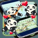 键盘可爱的熊猫