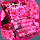 粉红色的花朵键盘