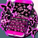 霓虹灯蝴蝶键盘