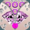 紫色钻石 拉链锁屏