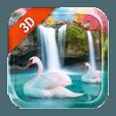 3D Live Wallpaper Waterfall& Swan