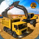 重型挖掘机起重机 - 城市建设模拟
