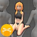 【画画用】3d人体参考ヾ(??▽?)ノ