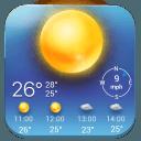 簡潔清爽﹣鎖屏時鐘天氣小工具﹣琥珀天氣,最贊的天氣小工具!