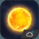 科幻風格高清晰時鐘天氣小工具﹣琥珀天氣,最贊的天氣小工具!