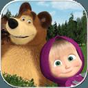 玛莎和熊。益智教育游戏