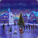圣诞溜冰场动态壁纸