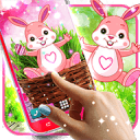 Cute bunny live wallpaper