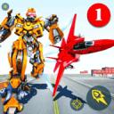 空中机器人游戏 - 飞行机器人变换平面