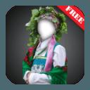 nationality dress photomontage
