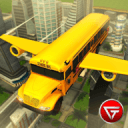 Flying School Bus Simulator 3D