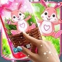 Cute bunny live wallpaper