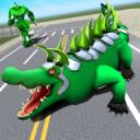 真正的机器人鳄鱼 - 变换机器人游戏