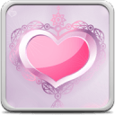 粉红色的心活壁纸