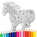 Coloring Book: Animal Mandala