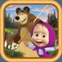 马莎和熊:孩子们钓鱼