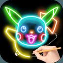 Draw Glow Cartoon