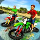 儿童水冲浪摩托车赛车 - 海滩驾驶