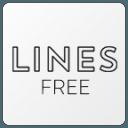 Lines Dark Free - Black Icons