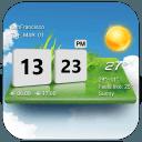 3D Digital Weather Clock Free