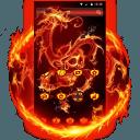 火焰龙和骷髅头主题