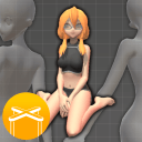 【画画用】3d人体参考ヾ(✿゚▽゚)ノ