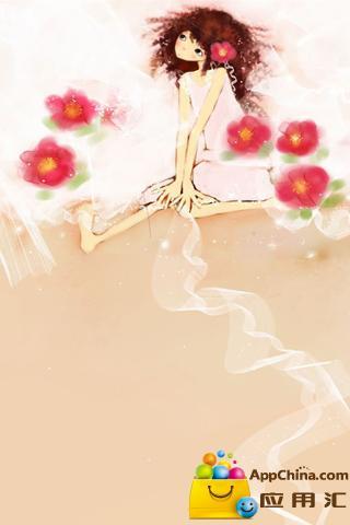 韩国手绘动态壁纸-可爱小女生3