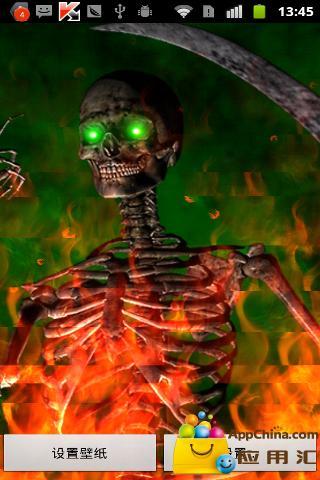 壁纸 动态 骷髅/[日常应用] [恐怖骷髅动态壁纸][7.0][火焰数量等等。]