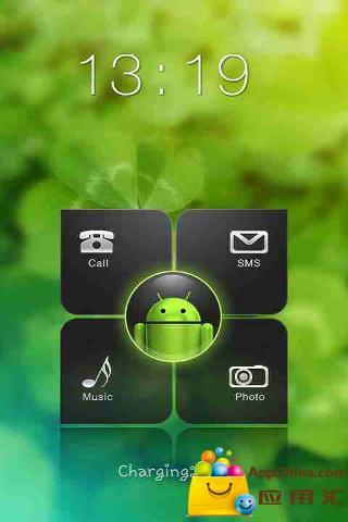 1.00手机版免费下载 AppChina应用汇 -GO锁屏翠绿色