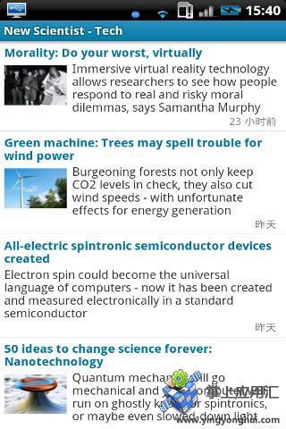 顶级科技期刊截图4
