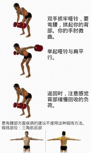 哑铃健身教程截图2