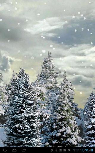 雪花松树动态壁纸截图1