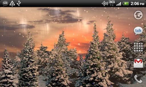 雪花松树动态壁纸截图2
