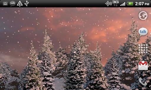 雪花松树动态壁纸截图3