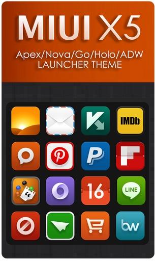 MIUI X5 HD Apex Nova ADW Theme