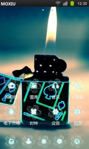 LOMO打火机魔秀桌面主题 壁纸美化软件
