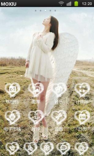 玩工具App|天使的翅膀魔秀桌面主题(壁纸美化软件)免費|APP試玩
