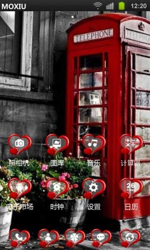 电话亭魔秀桌面主题 壁纸美化软件