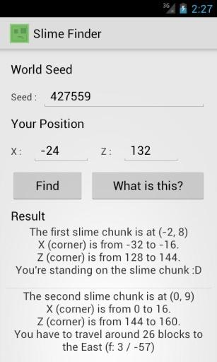 Slime Finder for Minecraft截图2