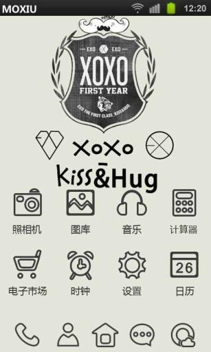 EXO专辑封面魔秀桌面主题 壁纸美化软件