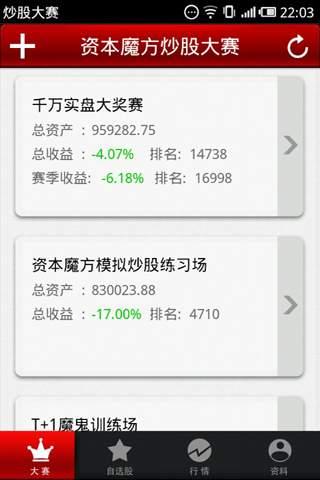 模拟炒股大赛场 玩財經App免費 玩APPs