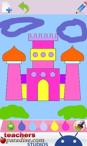 公主的儿童彩图